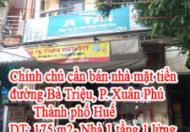 Chính chủ cần bán nhà mặt tiền đường Bà Triệu, TP Huế
