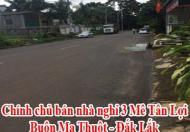 Chính chủ bán nhà nghỉ 3 Mê Tân Lợi Buôn Ma Thuột Liên hệ : 0914062571