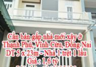 Cần bán gấp nhà mới xây ở Thạnh Phú, Vĩnh Cửu, Đồng Nai