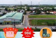 MUA ĐẤT chỉ 986tr sở hữu ngay lô vị trí đẹp TTTM TP.Long Xuyên và NHẬN NGAY IPHONE 11