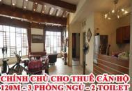 Chính chủ cho thuê căn hộ 120m - 3 phòng ngủ - 2 toilet. Sunrise 90 Trần Thái Tông