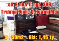 Bán nhà tập thể tầng 1, số 9 nhà E ngõ 396 Trương Định, Hoàng Mai