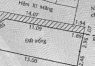 Đất 6.02 x 16m nở hậu 6.5m, hẻm xe hơi, vị trí đẹp góc 2 mặt tiền hẻm, Huỳnh Tấn Phát, hướng tây, tiện xây nhà trọ, nhà phố giá bá...