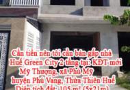 Cần tiền nên tôi cần bán gấp nhà Huế Green City 2 tầng tại: KĐT mới Mỹ Thượng, xã Phú Mỹ, huyện
