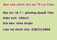 Cần bán nhà tại phường Quyết Tiến – thành phố Lai Châu  - 105m2