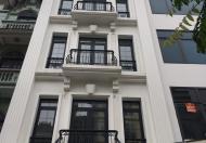 Cho thuê nhà mới xây  mặt phố trần cung 75m x 6T thông sàn