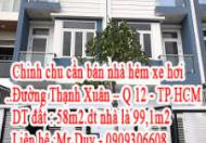 Cần bán nhà hẻm 280 đường Thạnh Xuân 25, Quận 12-TP Hồ Chí Minh