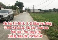 Cần bán 3 lô đất 18; 19; 20 thẳng trục đường UBND Xã Đa Lộc, Hậu Lộc, Thanh Hóa