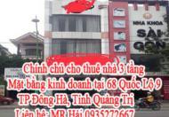 Chính chủ cho thuê nhà 3 tầng như hình – Mặt bằng kinh doanh Tại: 68 Quốc Lộ 9, TP Đông Hà, Tỉnh