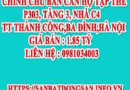 Chính chủ bán căn hộ tập thể P303, Tầng 3, Nhà C4 TT Thành Công,Ba Đình,Hà Nội