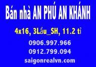 Bán nhà an phú an khánh đường 10a gần trường học nguyễn hiền (66m2) 11,2 tỷ LH: 0906997966