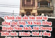 Chính chủ cần bán nhà tại : Cổng chợ Hóp – Xã Nam Hồng – Huyện Nam Sách – Tỉnh Hải Dương