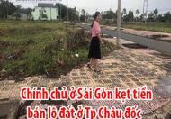 Chính chủ ở Sài Gòn kẹt tiền bán lô đất ở Tp Châu đốc