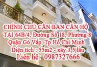 CHÍNH CHỦ CẦN BÁN CĂN HỘ TẠI 64B/4, Đường Số 18, Phường 8, Quận Gò Vấp, Tp Hồ Chí Minh