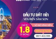 Cần bán căn nhà phố thương mại FLC Sầm Sơn, Lux City, hướng đông nam view hồ điều hoà, giá chỉ 12,5tr/m2 đất
