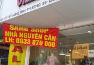 Cần sang shop thời trang số 406 đường Xô Viết Nghệ Tĩnh, P25, quận Bình Thạnh, HCM