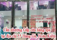 Cần nhượng Gấp cửa hàng spa tại địa chỉ 55 Hàng Gà, Hoàn kiếm, Hà Nội (trung tâm phố cổ).