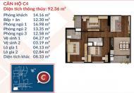 Bán gấp căn hộ tầng trung ban công Đông Nam 100m2-3PN dự án Việt Đức Complex