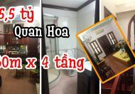 Nhà To Quan Hoa 60m x 4 Tầng MT 4m 5,5 tỷ