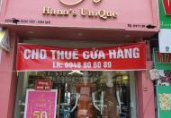Cho thuê cửa hàng mặt phố Sơn Tây Kim Mã, Ba Đình đoạn đẹp nhất  ĐT 0948. 80.60.89