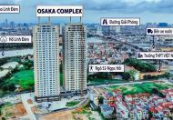 Bán chung cư OSAKA COMPLEX Hoàng Mai 75m2, 2pn, 2 vs. giá 1.55 tỷ