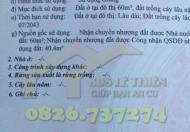Bán đất Định Hòa Thủ Dầu Một Bình Dương(nhánh MPTV). DT 100m2. LH 0826737274