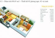 Do chuyển công tác gia đình tôi cần bán căn hộ 81 m2 tầng trung CC The Pride – La Khê, Hà Đông, 2PN+2WC