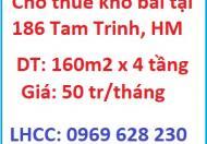 Cho thuê kho bãi tại 186 Tam Trinh, Hoàng Mai, 0969628230