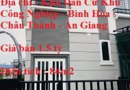 Cần Bán Nhà 2 Mặt Tiền Căn Góc Thương Mại - Dự Án Hòa Bình - Châu Thành - An Giang. Liên hệ : Mr