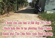 Chính chủ cần bán lô đất đẹp thích hợp đầu tư tại phường Hiệp Thành, thành phố Thủ Dầu Một, tỉnh