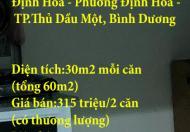 Cần bán nhà ở Xã Hội Becamex Định Hoà – Phường Định Hoà – TP.Thủ Dầu Một, Bình Dương