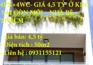 CẦN BÁN GẤP CĂN NHÀ MỚI 4PN+4WC- GIÁ 4,5 TỶ Ở KDC SÀI GÒN MỚI – NHÀ BÈ – TPHCM