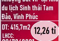 CC Cần chuyển nhượng Đất VIP tại Khu du lịch Sinh thái Tam Đảo. LH 0967868801