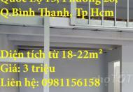 Cho thuê phòng trọ Đường Quốc Lộ 13, Phường 26, Quận Bình Thạnh, Tp Hồ Chí Minh