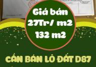 Cần đất lô đất D87 phường Thanh Bình Hải Dương
