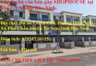 Chính chủ cần bán gấp SHOPHOUSE tại khu CN Viship Bắc Ninh.