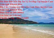 Mở Bán Đất Nền Dự Án Vị Trí Đẹp Tại huyện Cam Lâm tỉnh Khánh Hòa