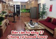 Bán căn hộ tầng 17 Chung cư Gemek Tower phố Lê Trọng Tấn, Hoài Đức, Hà Nội.
