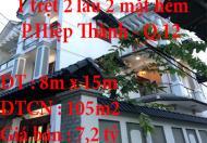 Chính chủ bán nhà 2 mặt hẻm Phường Hiệp Thành, Quận 12, Tp.HCM
