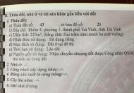Bán đất đường Lê Lợi, phường 1, Trà Vinh, 410m2, 11mx33m, nở hậu, LH: 0903696811