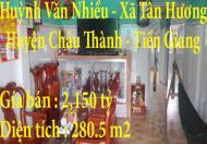 Chính chủ bán nhà 1 trệt ở Tân Thuận, Tân Hương, Huyện Châu Thành, Tiền Giang
