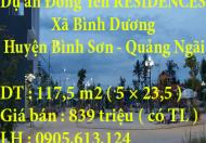 Chính Chủ Cần Bán đất dự án Đông Yên RESIDENCES, thôn Đông Yên, Xã Bình Dương, huyện Bình Sơn, tỉnh