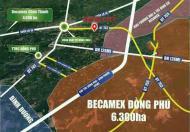 BÁN GẤP ĐẤT GIÁ RẺ MẶT TIỀN ĐƯỜNG RỘNG 29m GẦN KCN BECAMEX 6300ha ĐỒNG PHÚ