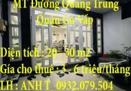 Chính chủ cần cho thuê căn hộ Mặt tiền Đường Quang Trung – Quận Gò Vấp – TP HCM