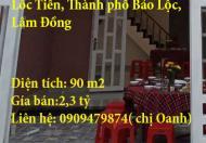 Cần bán nhà hẻm nằm ở Phường Lôc Tiến, Thành phố Bảo Lộc, Lâm Đồng