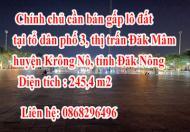 Chính chủ cần bán gấp lô đất tại tổ dân phố 3 , thị trấn Đăk Mâm,huyện Krông Nô, tỉnh Đăk Nông.