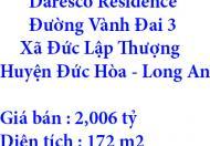 Chính chủ bán Đất Daresco Residence ở Đường Vành Đai 3, Xã Đức Lập Thượng, Huyện Đức Hòa, Long An