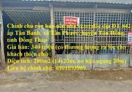 Chính chủ cần bán nền nhà vị trí đắc địa huyện huyện Tân Hồng, tỉnh Đồng Tháp