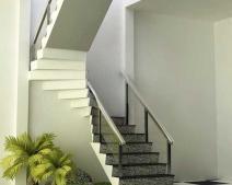 Phong thủy đặt chậu cây ở chân cầu thang mang vượng khí cho cả gia đình