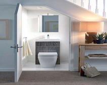Phong thủy cầu thang kết hợp nhà vệ sinh và cách hóa giải